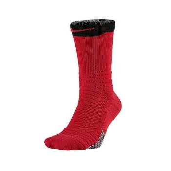 NIKE VERSA CREW 男籃球襪-中筒襪 襪子 紅黑