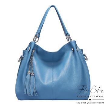DF Flor Eden - 牛皮款流蘇手提斜背2用包-共2色