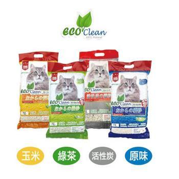 Eco Clean  艾可 天然環保 豆腐貓砂 7L 共4款 X 6包