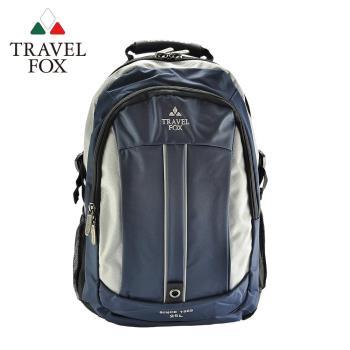 【TRAVEL FOX 旅狐】雙色尼龍輕量休閒後背包 (TB586-47) 藍色