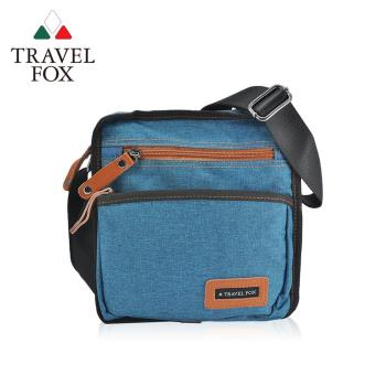 【TRAVEL FOX 旅狐】簡約單寧紋側背包 (TB675-47)藍色