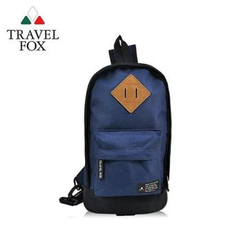 【TRAVEL FOX 旅狐】尼龍輕巧豬鼻系單肩斜背包 (TB666-47) 藍色