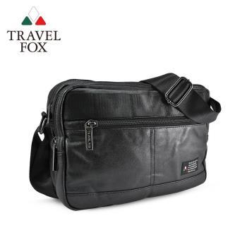 【TRAVEL FOX 旅狐】輕巧雙料防撥水帆布側背包 (TB663-01) 黑色