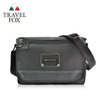 【TRAVEL FOX 旅狐】都會質感車縫斜背包 (TB597-01) 黑色