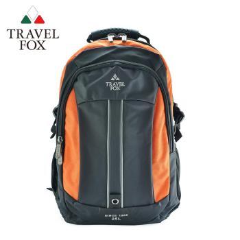 【TRAVEL FOX 旅狐】雙色尼龍輕量休閒後背包 (TB586-16) 橘色