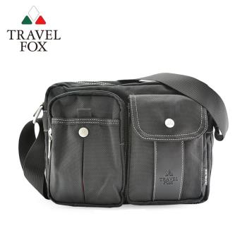 【TRAVEL FOX 旅狐】輕量多功能雙層多口袋尼龍包 (TB573-01) 黑色