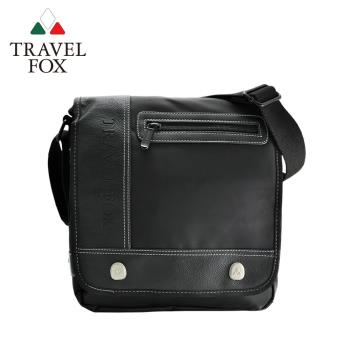 【TRAVEL FOX 旅狐】經典多功能雙層側背包 (TB579-01) 黑色