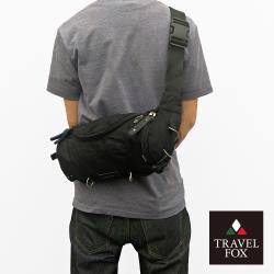 【TRAVEL FOX 旅狐】經典防潑水臀/腰/斜背包 (TB236-01) 黑色