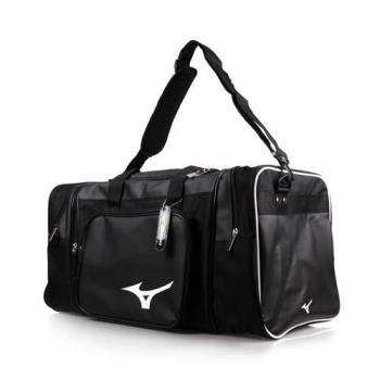 MIZUNO 大型遠征袋-肩背包 側背包 手提袋 旅行袋 美津濃 黑白