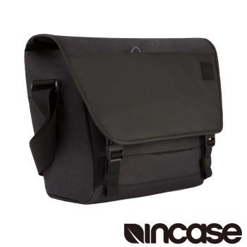 【INCASE】Compass Messenger 15吋 時尚拼接電腦信差包 / 郵差包 (黑)