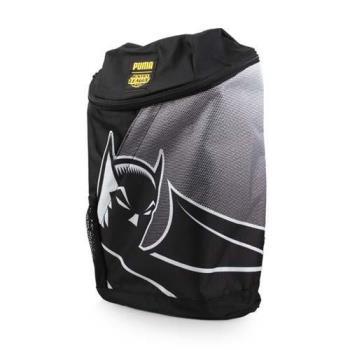 PUMA 正義聯盟後背包-雙肩包 旅行包 肩背包DC COMICS 12L 黑灰
