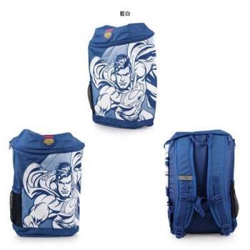 PUMA 正義聯盟後背包-雙肩包 旅行包 肩背包DC COMICS 12L 藍白