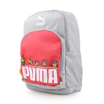 PUMA 小小兵後背包-雙肩包 旅行包 12L 灰紅白
