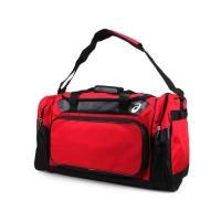 ASICS 大型遠征袋-肩背包 側背包 手提袋 旅行袋  亞瑟士 紅黑
