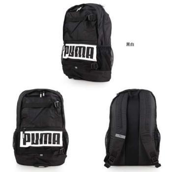 PUMA DECK後背包-雙肩包 旅行包 24L 黑白
