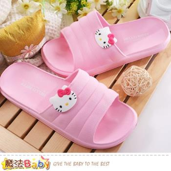 魔法Baby 女鞋 Hello kitty授權正版休閒拖鞋~sk0275