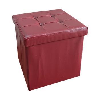 時尚皮革可折疊收納凳/穿鞋椅/收納箱