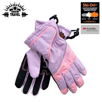 SNOW TRAVEL 英國Ski-Dri 觸控保暖手套AR-73 粉紅