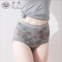 任-【PEILOU】貝柔竹炭抗菌高腰三角褲-玫瑰花