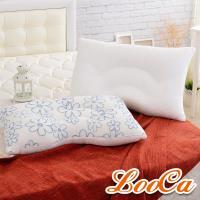 LooCa 舒鼾花漾透氣兩用乳膠枕2入