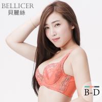 【貝麗絲】微熱的悸動-蜜柑橘-集中再升級調整型BCD罩(內衣內褲套組)