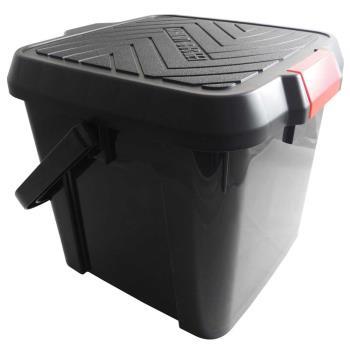 [inomata] 多功能踏台水桶-黑 19L