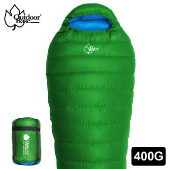CP值爆表!輕量抗撕裂布 400g羽絨睡袋 四季通用 FP650+ Outdoorbase雪舞羽絨睡袋400kg-22611