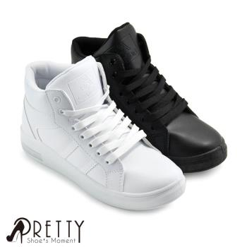 Pretty 簡單個性綁帶內增高休閒鞋N-28066