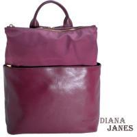 任-【Diana Janes 黛安娜】韓版輕量都會時尚尼龍配皮商務後背包