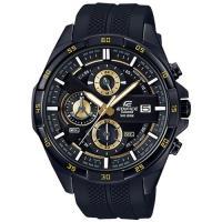 【CASIO】EDIFICE 紳士格調三眼計時時尚腕錶-黑X金 (EFR-556PB-1A)
