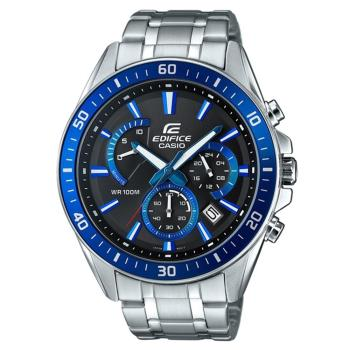 【CASIO】EDIFICE 時尚大型錶眼極速扇型指針腕錶-科技藍 (EFR-552D-1A2)