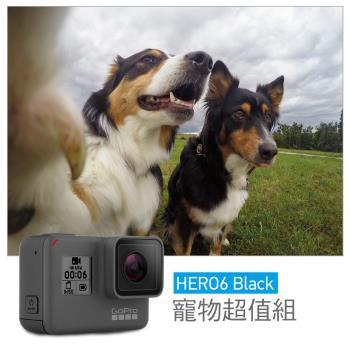 【GoPro】HERO6 Black 寵物超值組-HERO6+寵物綁帶+電池+32G(公司貨)