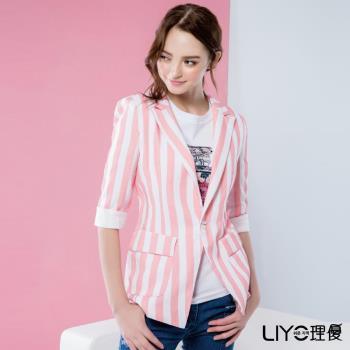 LIYO理優 韓國外套條紋西裝外套 538012