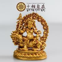 十相自在~財寶天王小佛像 金色法像 Gyalchen Namse