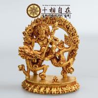 十相自在~白財神小佛像 金色法像 Zambhala Karpo