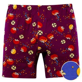 【DADADO】柿柿如意 M-LL 印花平口內褲(藍)品牌推薦-舒適寬鬆-四角男褲