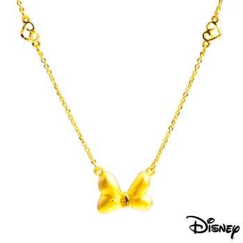 Disney迪士尼系列金飾 蝴蝶結黃金項鍊