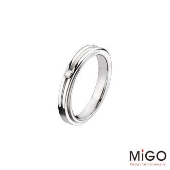 MiGO 相遇鑽石/白鋼女戒指