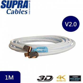 瑞典原裝SUPRA CABLE HDMI 2.0 HDMI-HDMI 公對公 訊號線(1m)