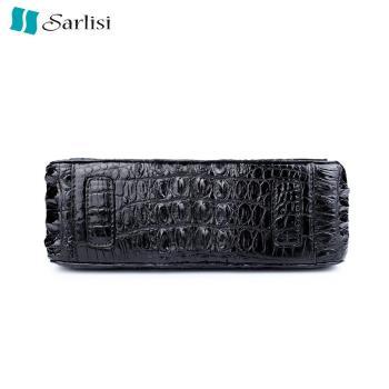 Sarlisi清麗臻蘊美洲鱷魚皮2.55鍊帶包-黑色
