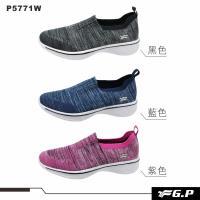 G.P 女款簡約編織輕量運動鞋 P5771W-黑色/藍色/桃紅色(SIZE:35-39 共三色)