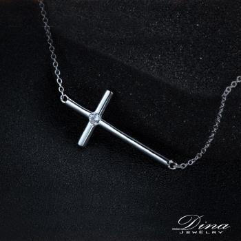 DINA JEWELRY蒂娜珠寶  不敗十字架款 純銀鎖骨鍊 (DML51552)