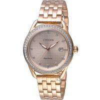 星辰 CITIZEN Ladies璀璨光芒光動能腕錶 FE6119-85X