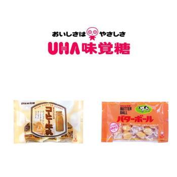 UHA 日本味覺糖-咖啡牛奶糖+奶油球糖 共6包