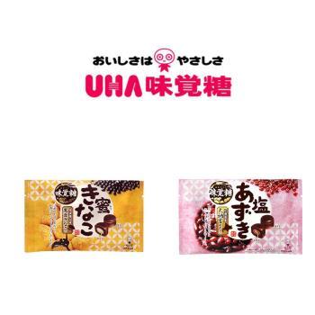 UHA 日本味覺糖-蜜黑豆夾心糖+鹽紅豆夾心糖 共6包