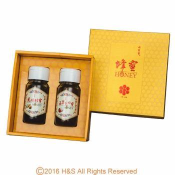 【瀚軒】極品蜂蜜禮盒(龍眼/玉荷包各700g)