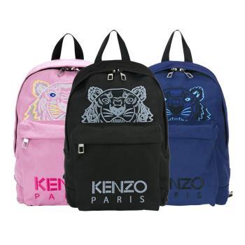 KENZO 經典虎頭刺繡logo後背包 (多色可選)