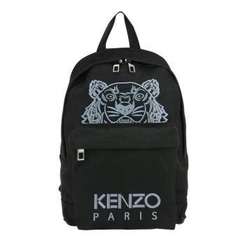 KENZO 經典虎頭刺繡logo後背包 (黑)