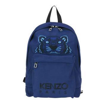 KENZO 經典虎頭刺繡logo後背包 (深藍)
