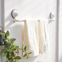 【HR安室家】TACO無痕吸盤系列-不鏽鋼角落可用毛巾架-BRF18